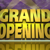 three dimensional graphic depicting a Grand Opening